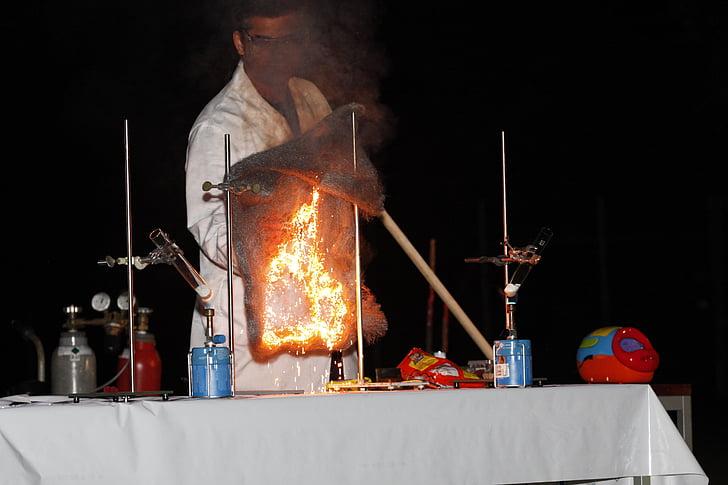 Ukázat chemii, ocelová vlna, oxidace