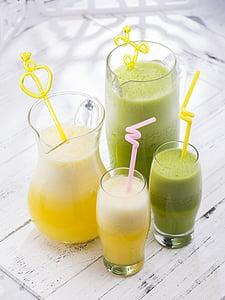 mahl, joogid, puu- ja köögiviljamahla, jook, joogiklaasi, joomine õled, kosutust
