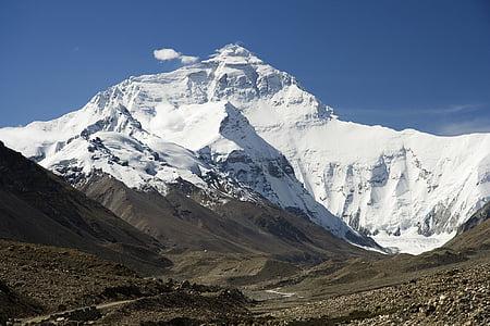 에베레스트, 네팔어, 히말라야, 산, 눈, 자연, 산의 정상
