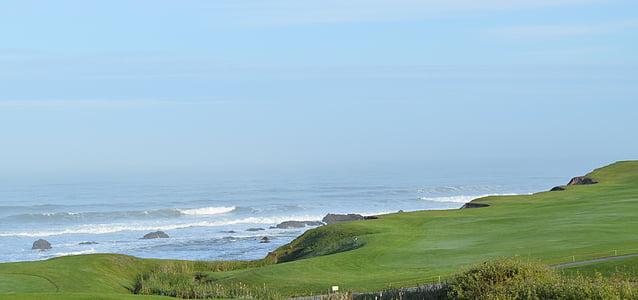 Costa, Oceà Pacífic, El Half moon bay, Califòrnia, bellesa, marí, l'estiu