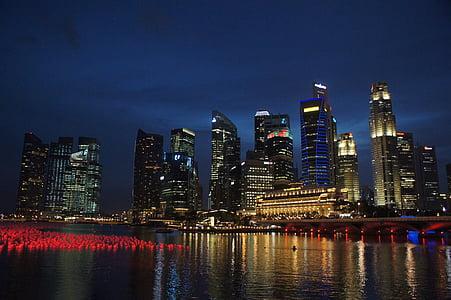Singapura, cakrawala Singapura, Sungai Singapura, arsitektur, Sungai, Asia, Kota