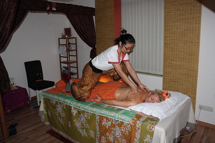 masaje, bienestar, masaje tailandés