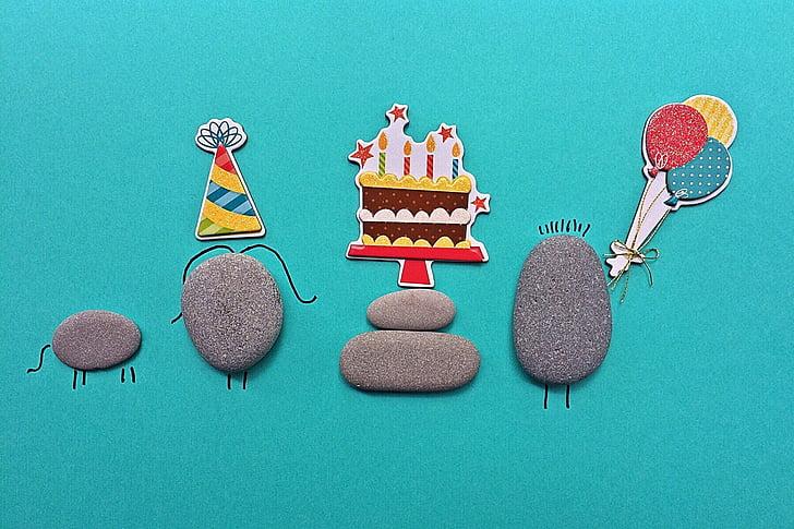 aniversário, rocha, arte, artesanato, pop art, ilustração