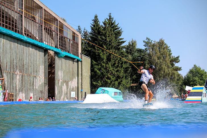 vatten, Whale, vattensporter, de flesta rep, wakeboard, Surf
