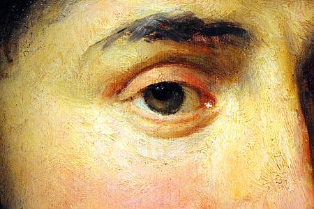 ตา, กรอบการทำงาน, ภาพวาด, สีน้ำมันบนผ้าใบ, วอลล์เปเปอร์, พื้นหลัง, expressionist