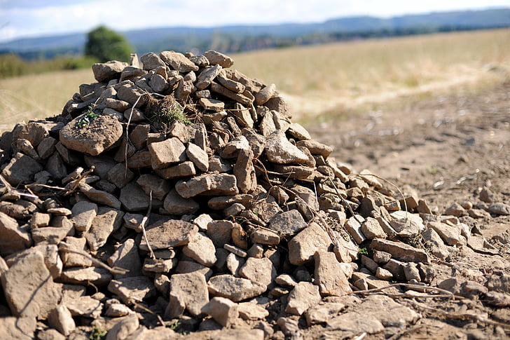 munt de pedres, tuds, collita, tardor, natura, a l'exterior