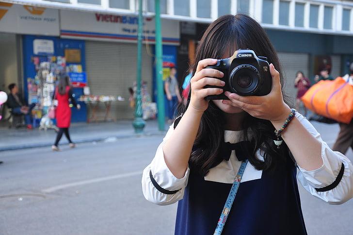 noia, càmera, Vietnam