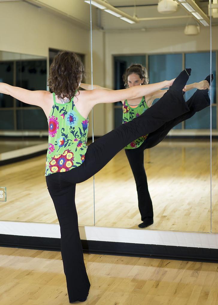 fitness, female, model, exercising, women, indoors, people