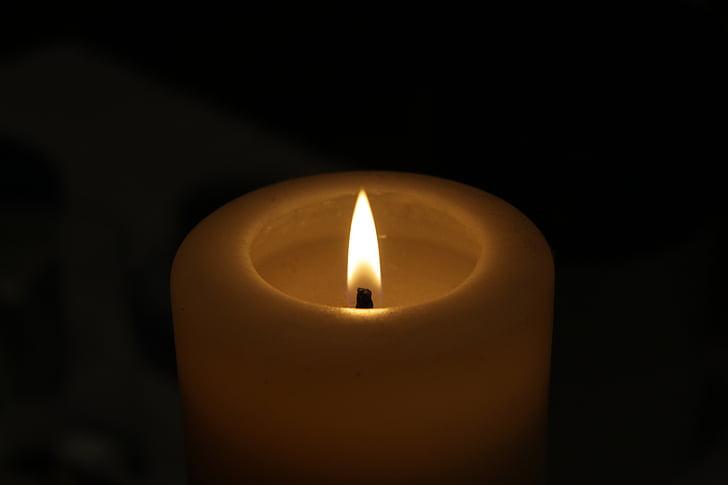 ngọn lửa, nến, trong bóng tối, buổi tối, ánh sáng, chữa cháy, hòa bình của tâm