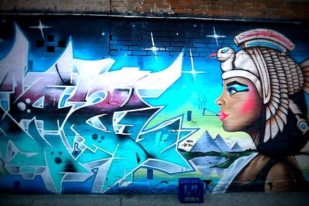 seni jalanan, seni, perkotaan, Kota, grafiti, cat, dinding