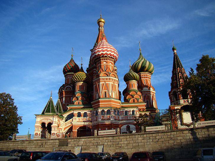 Saint basil's cathedral, Pokrovsky cathedral, múzeum, Červené námestie, Moskva, Rusko
