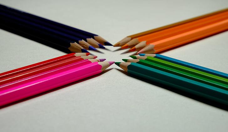 pieštukas, švino spalva, paprastas, spalva