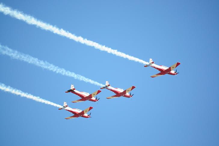 lentokoneet, Flying, muodostuminen, taivas, ilma-aluksen