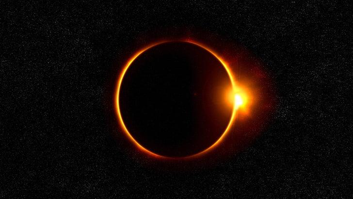 Päikesevarjutus, päike, põletatud, päikese, Eclipse, Fire - loodusnähtusest, hõõguv