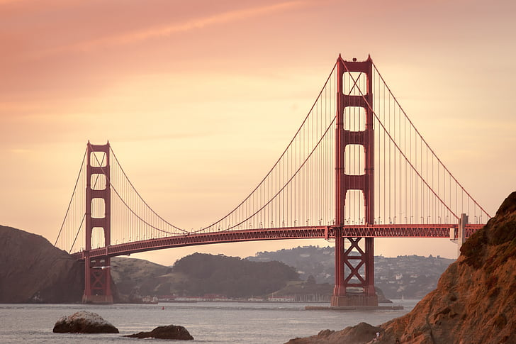 Golden gate bridge, San francisco, California, San francisco lahe piirkonnas, Bridge, Ocean, Bay