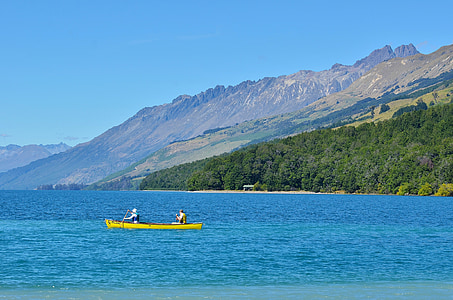 Lake wakatipu, gé lín nuò qí, Uus-Meremaa, Lake, sinine taevas, maastik