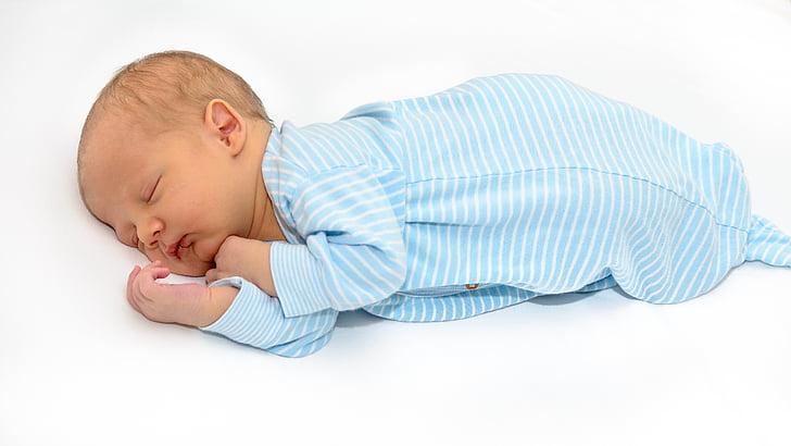bērnu, jaundzimušo, zīdainim, mierīgu, kājām, guļ