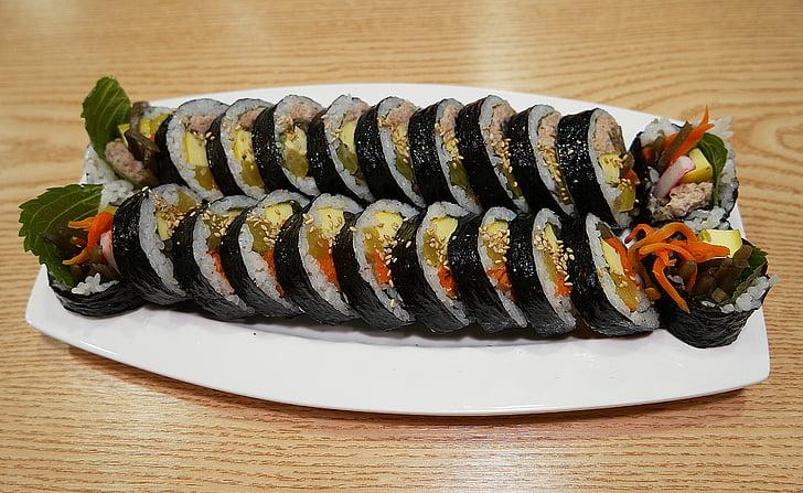 comida, arroz de Kim, lol, comida coreana, fotografia de alimentos