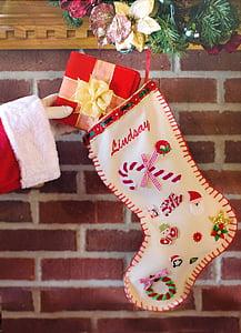 santa's arm, christmas stocking, gift, christmas, stocking, holiday, present