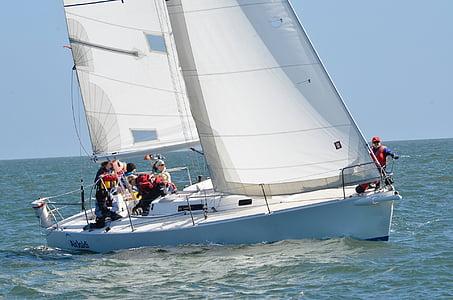 sailing, sailboat, water, ocean, yacht, wind, sea