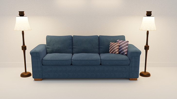sofa, 3d model, 3 seater