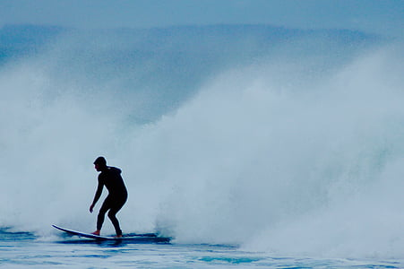 Surfer, surfen, Golf, Surf, Oceaan, water, surfplank