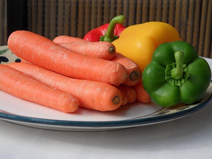 juured, paprika, köögiviljad, taimsed skaala
