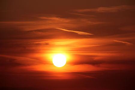 pôr do sol, sol, abendstimmung, pôr do sol, arrebol, céu, nuvem