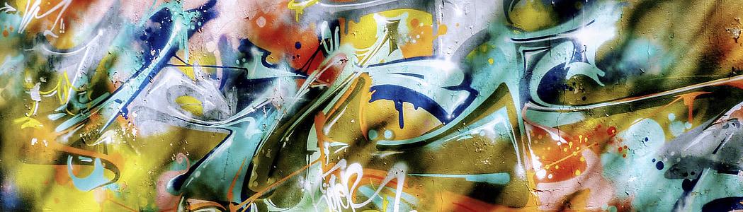 háttér, graffiti, színes, falfestmény, fal, Art, Street art