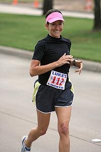 corredor, atleta, executar, gimnàs, esport, exercici, l'aire lliure