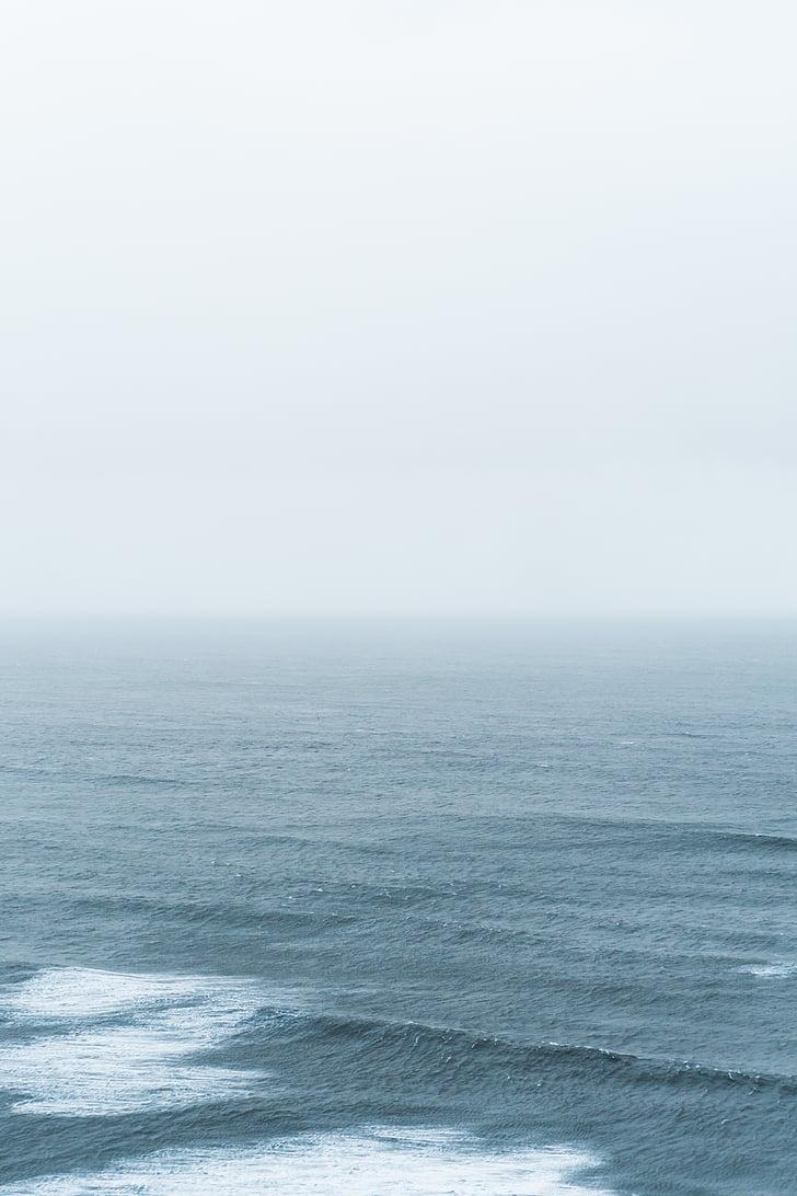 sea, wave, daytime, water, water waves, horizon, horizon over water