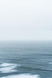 Mar, ona, diürna, l'aigua, ones d'aigua, horitzó, l'horitzó sobre l'aigua