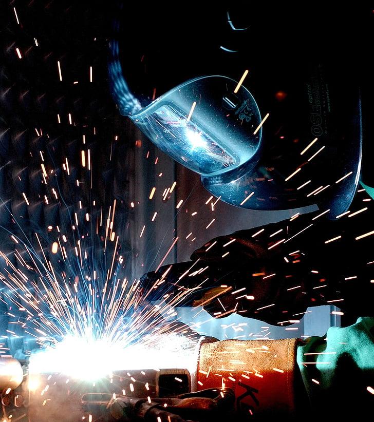 weld, hot soldering, radio, welder, metalworking, universal welder, workers