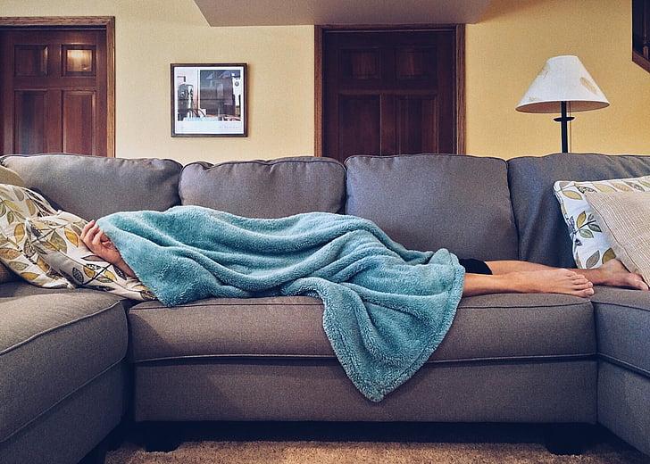 hjem, livet, sofa, sofaen, slappe av