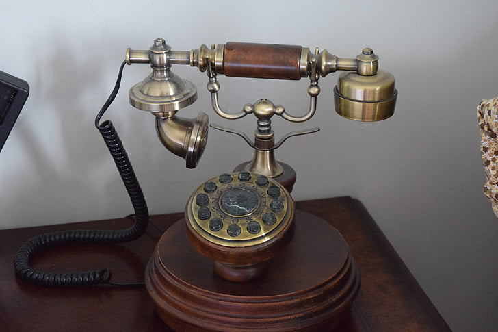 classic telephone, old phone, antique telephone, dial mode, landline phone, old antique telephone
