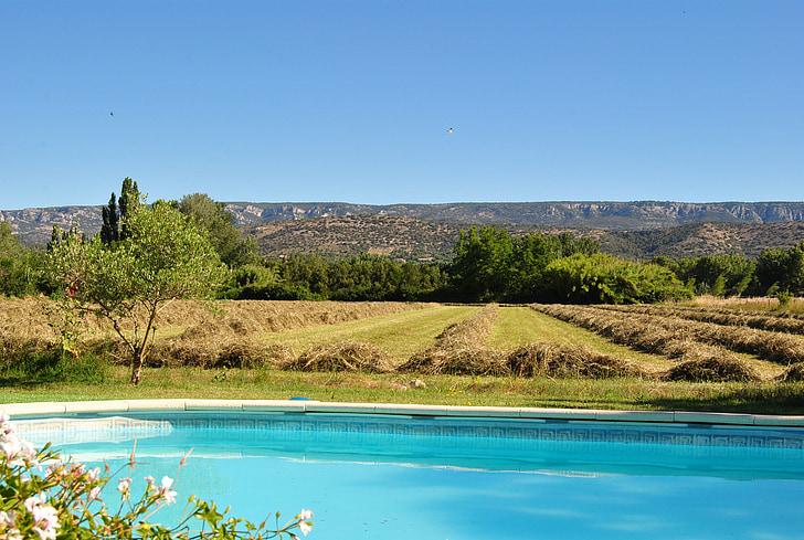 Provença, Lubéron, Mallemort de Provença, natura, blau, l'estiu