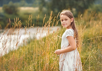 baby, summer, field, childhood, girl, photographing children, heat