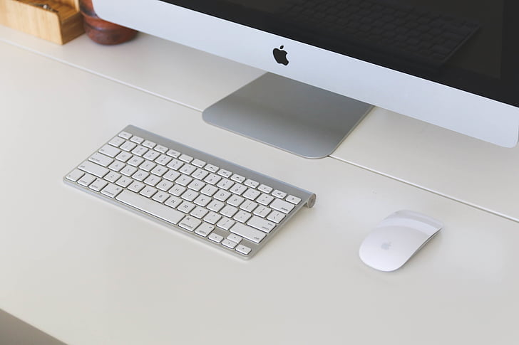 white, imac, mac, computer, desktop, keyboard, mouse