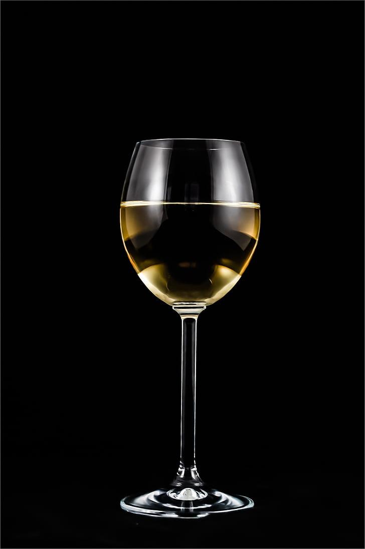 una copa de vi, vi, l'alcohol, vidre, casament, una copa de, transparents