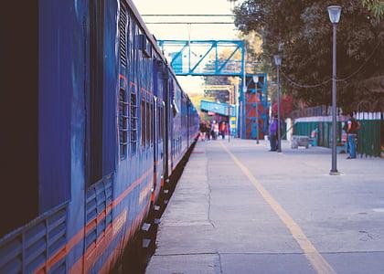 Dillí, Indie, vlakem, železniční stanice, cestování, cestovatelů, cestování