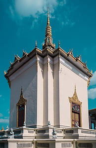 Cambodja, Phnom penh, Palau, carretera, Palau Reial de Phnom penh, edifici, estupa