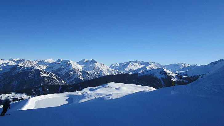 muntanyes, alpí, neu