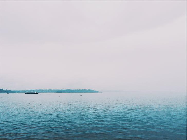 sea, horizon, photography, daytime, ocean, water, boat