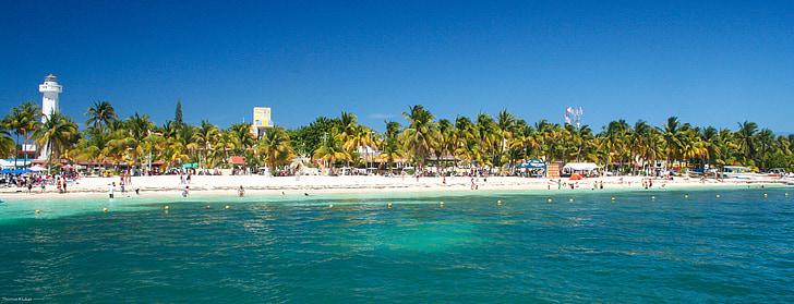 Cancun, strand, Mexico, zee, door de zee, prachtige stranden, kust