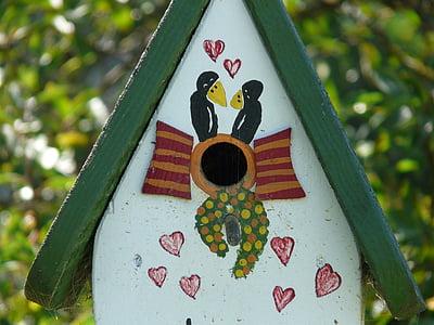 aviary, bird feeder, feeding, birds, colored, colorful, nice