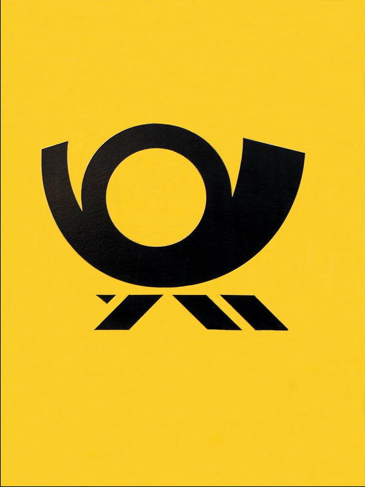 posting horn, posting, logo, ikon, kotak pesan, simbol, Lambang