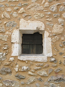 stone house, window, facade, stone, old, wall, house