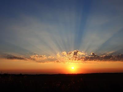 ηλιοβασίλεμα, το βράδυ, ουρανός, ο ήλιος, τοπίο, Λυκόφως, τοπίο