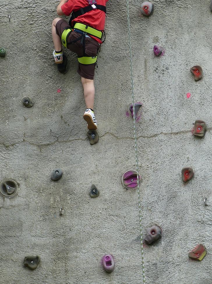 등반, 등반 벽, 스포츠, 운동, 레저, 피트 니스, 액션