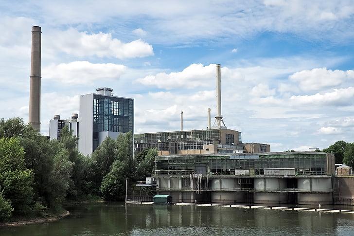 het platform, Elektriciteitscentrale, gebouw, industrie, hemel, huidige, stad